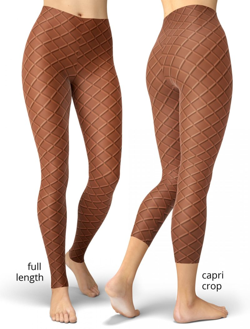 Ice Cream Waffle Cone Leggings - Halloween Costume