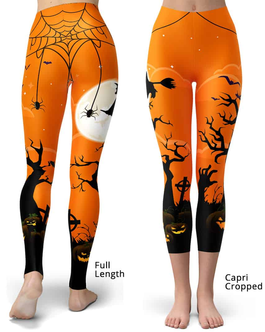 ec0e6324e85c77 Halloween Spooky Leggings - Designed By Squeaky Chimp Tshirts & Leggings