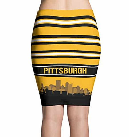 Pittsburgh NFL Steelers Pencil Skirt - Pittsburgh Penguin Pencil Skirt - Pittsburgh Pirate Pencil Skirt