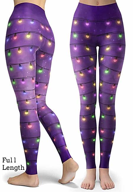 Sparkle Christmas Lights - Holiday Leggings