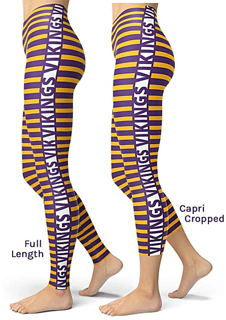 Sexy Purple & Gold Stripe Minnesota Vikings Leggings