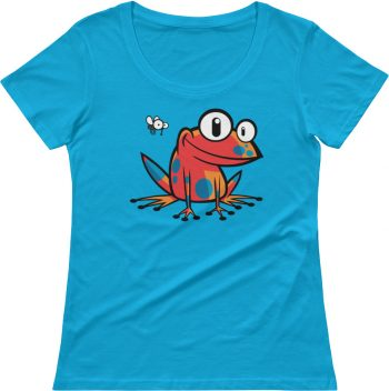 women's scoop neck poison frog tshirt