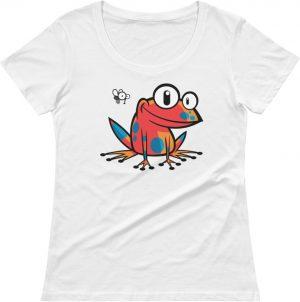 women's scoop neck poison frog tshirt