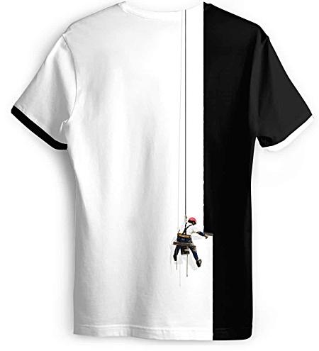 Creative painter t-shirt - designer t-shirts - paint ts shirt - painting tee - Women's v neck t shirt