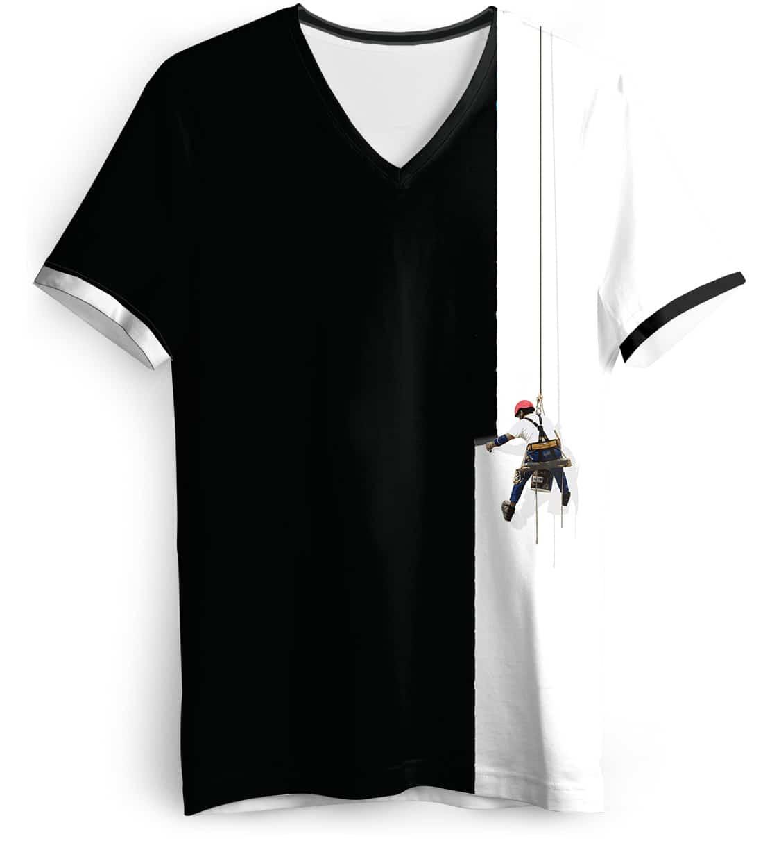 Creative painter t shirt fun designer tee best tshirts for Best white v neck t shirt