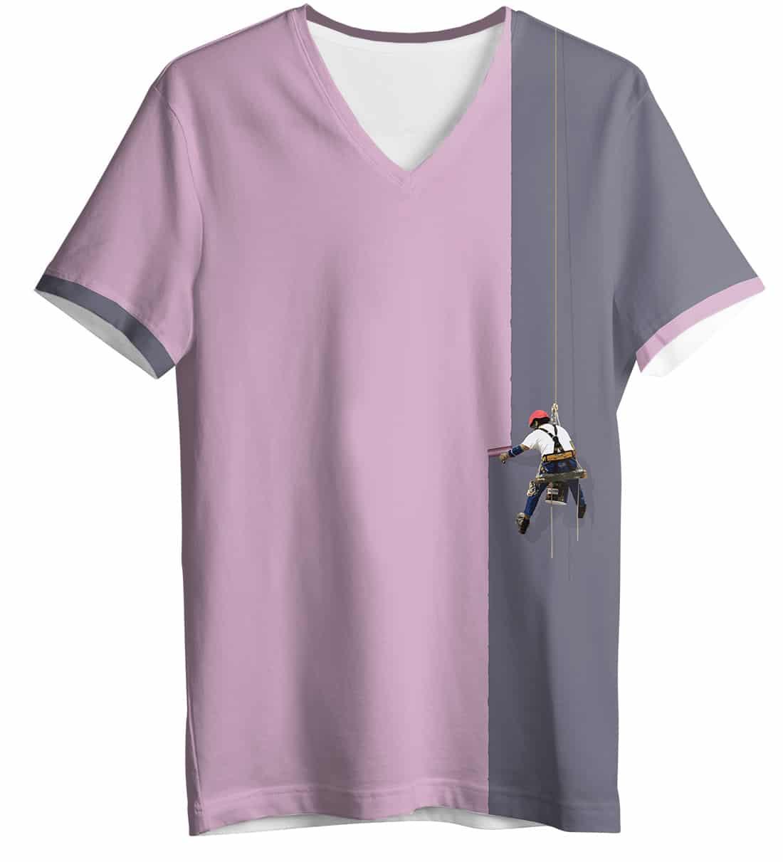 Creative painter t shirt women 39 s short sleeve v neck for T shirt creative design