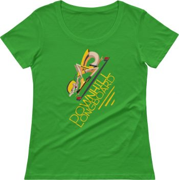 Downhill Longboard T shirt - Skateboard Tshirts - Skater T-shirts - Scoop Neck Women