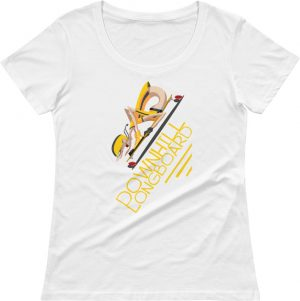 Downhill Longboard T shirt - Skateboard Tshirts - Skater T-shirts - Scoop Neck Women