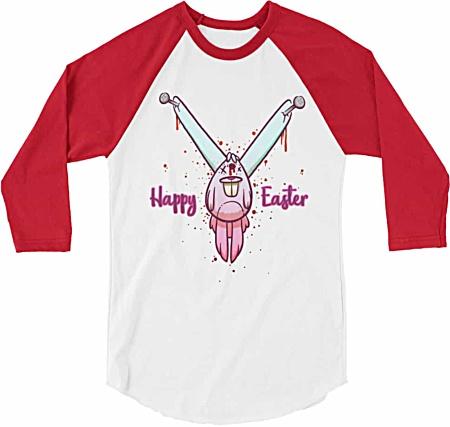 Dead bunny t shirt - rude t shirts - rude easter shirt - crazy baseball t-shirts