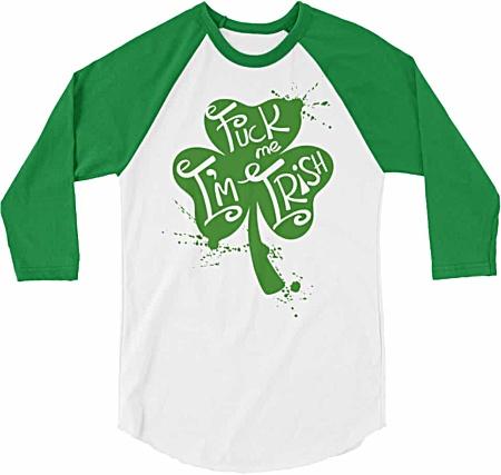 St. Patrick's Day T-Shirts - St Paddys Tees - Shamrock tshirts - Baseball Tshirts