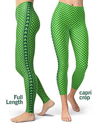 St. Patrick's Day Leggings - St Paddys Leggings - Shamrock Leggings - Green Leggings