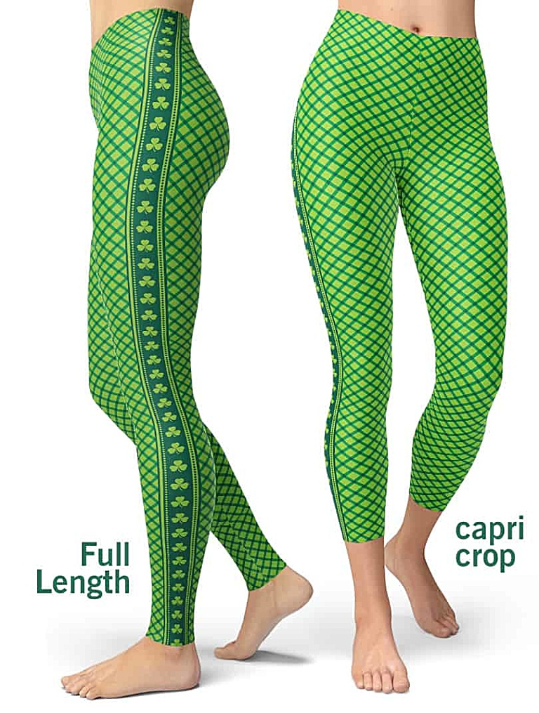 St. Patrick's Day Leggings - St Paddys Leggings - Shamrock Leggings - Green Leggings