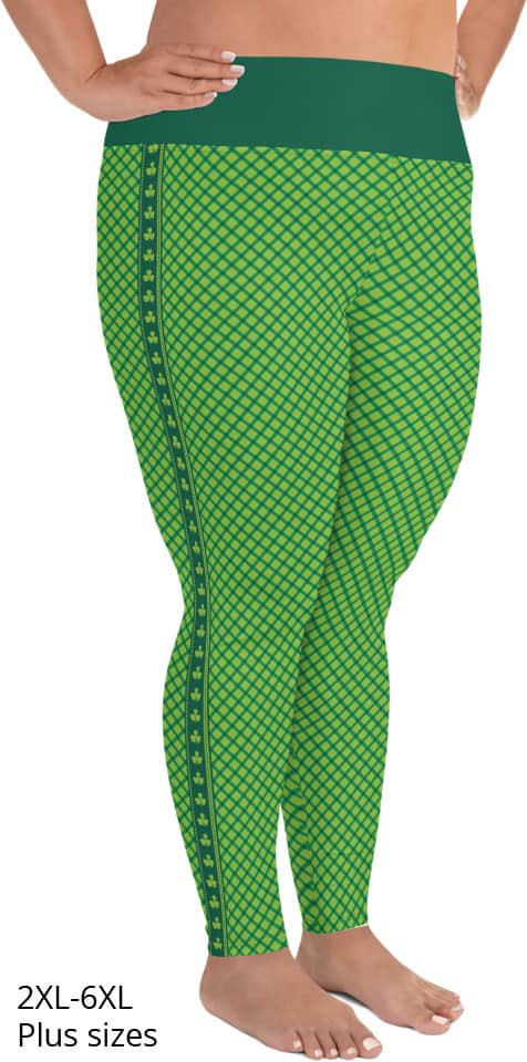 St. Patrick's Day Leggings - St Paddys Leggings - Shamrock Leggings - Green Leggings - Plus size leggings