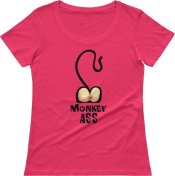 Monkey T-shirts - Rude t shirts - Girls short sleeve tee