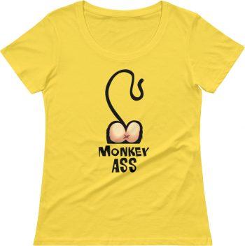 Monkey T-shirts - Rude t shirts - Girls short sleeve tee