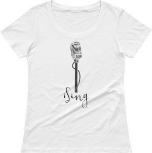 I sing tshirt - Music T-shirt - Tshirts for singers