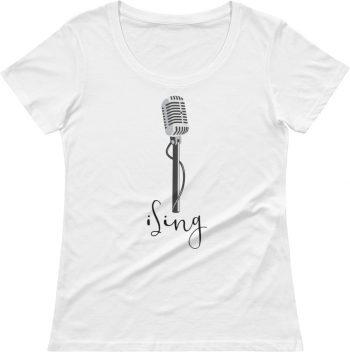 I sing tshirt - Music T-shirt - Tshirts for singers