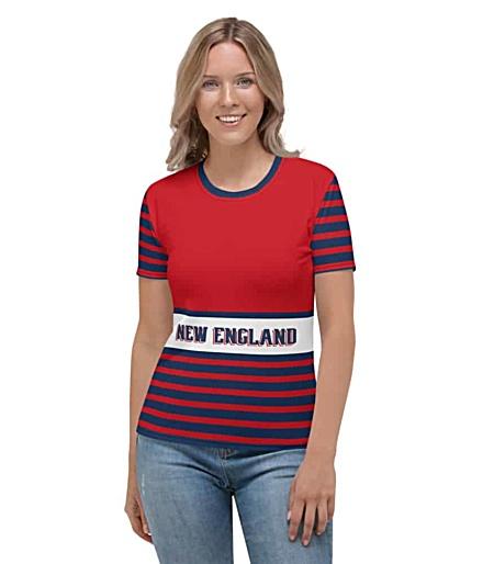 NFL Football New England Patriots T-shirt Tee for Women