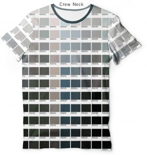 Grayscale Color Pantone T shirt Men's V Neck & Crew Neck Tee for Graphic Designers