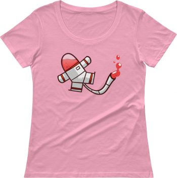 Spaceman Goo Designer scoop neck t shirt for women
