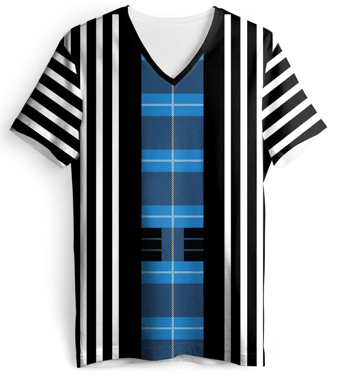 tartan-plaid-stripe-short-sleeve-girls-blue-front ...