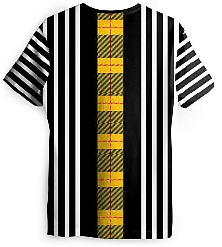 Black and white vertical striped tshirt - plaid t-shirt - tartan tee