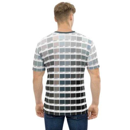 Grayscale Color Pantone T shirt Men's crew Neck Tee for Graphic Designers