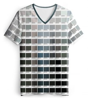 Grayscale Color Pantone T shirt Women's V Neck Tee for Graphic Designers