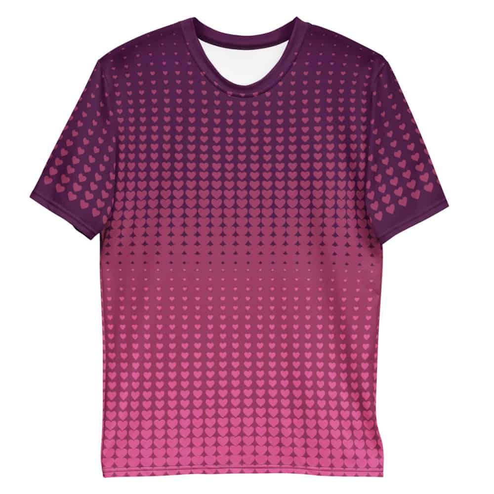 valentines day tshirt pink hearts pattern