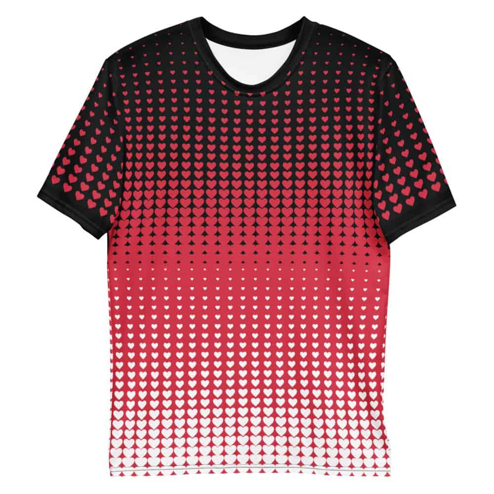 Valentine S Day Hearts T Shirt Women S Short Sleeve V Neck