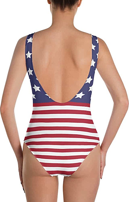4th of july bathing suits - American flag swim suits - one piece swimsuit