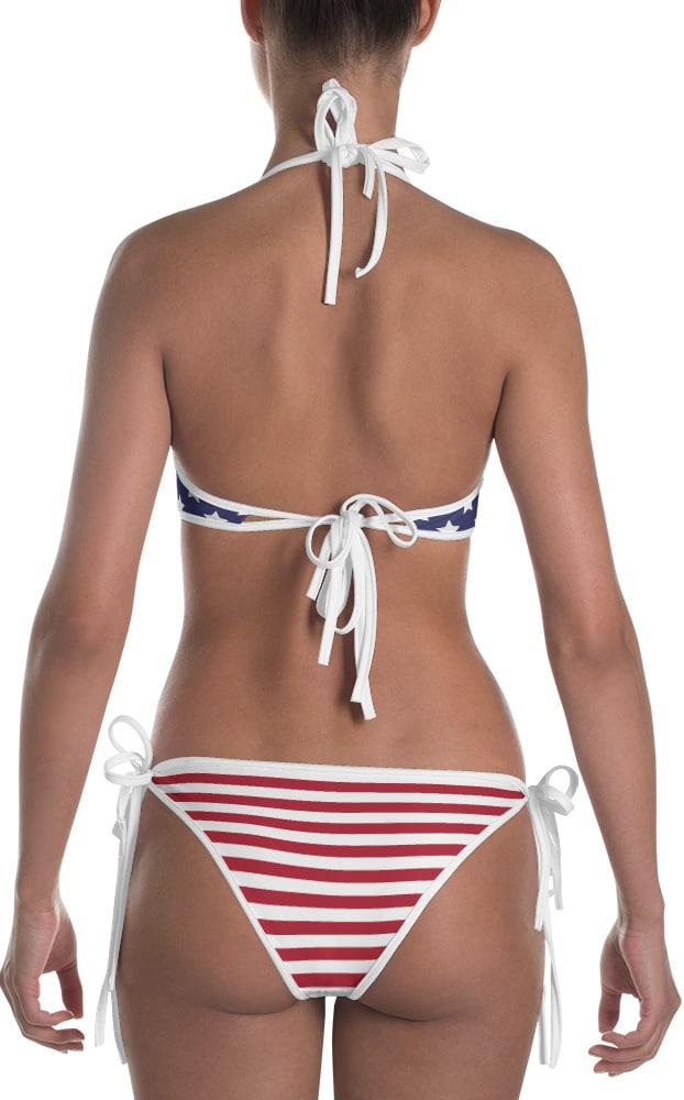 4th of july bikini bathing suits - American flag bikini swim suits - two piece swimsuit
