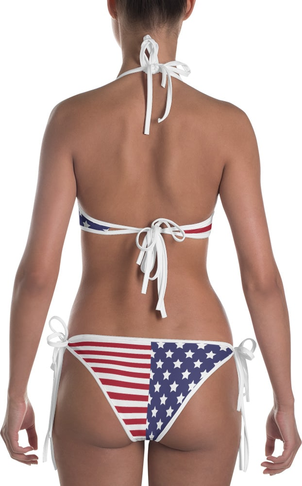 4th of july bikini bathing suits - American flag bikini swim suits - two piece swimsuit