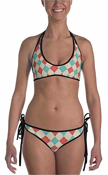 Argyle Reversible Bikini