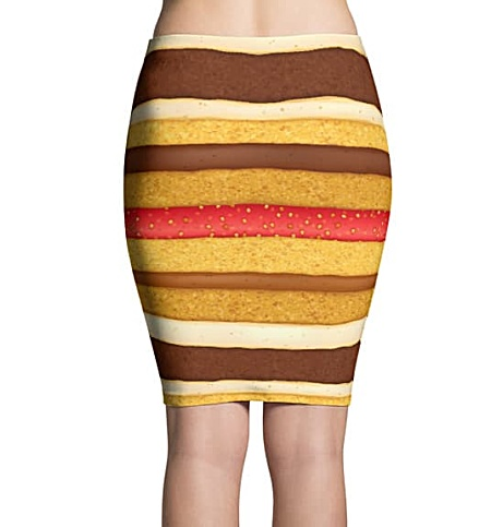 Strawberry shortcake custome & Chocolate spounge cake skirt - Sponge Cake Halloween Costumes skirt - Carnival Costume - Sweet Tooth costume