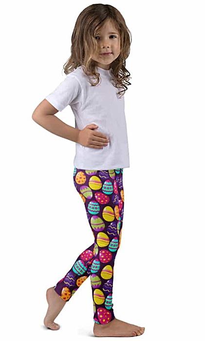Easter Egg Children's Leggings - Bunny Kids Leggings - Easter Leggings - Easter Bunny