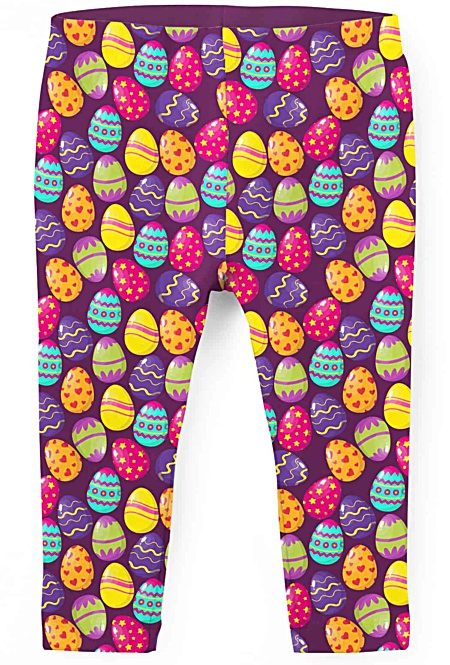 Easter Egg Children's Leggings - Bunny Kids Leggings - Easter Leggings - Easter Bunny