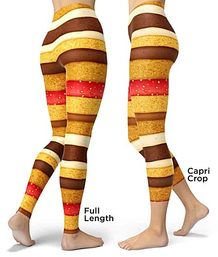 Strawberry & Chocolate spounge cake leggings - Sponge Cake Halloween Costumes legging - Carnival Costume - Sweet Tooth costume