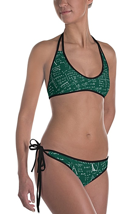 Reversible math bikini - algebra bathing suit