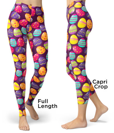 Easter Egg Leggings - Bunny Leggings - Easter Leggings - Easter Bunny