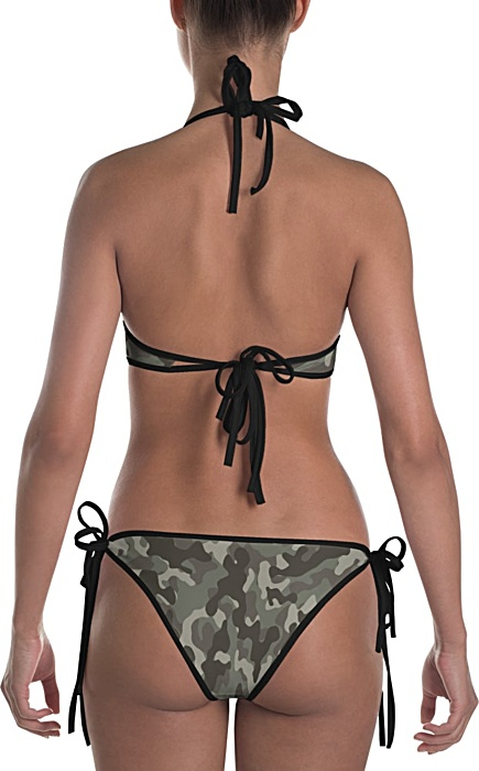 green camouflage swimsuit - camo bathing suit - sports swimwear - camouflage bikini