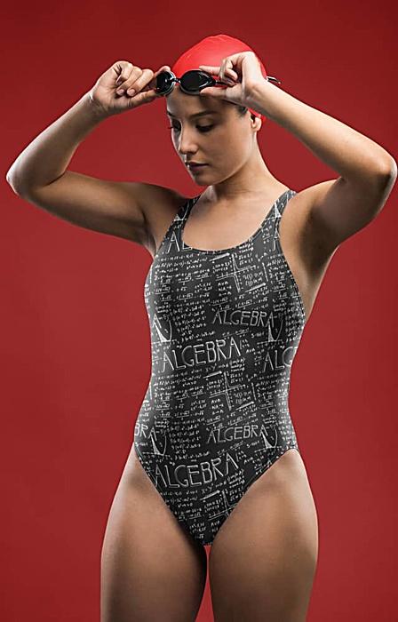 Math bathing suit - algebra one piece swimsuit