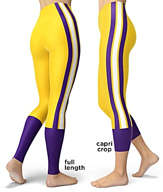 Louisiana State LSU Tigers College Football Leggings