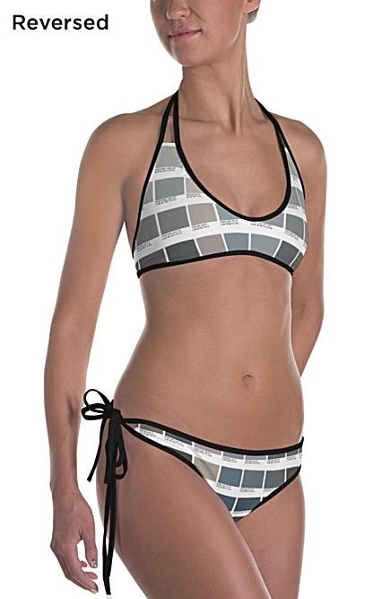 Grayscale & Color Pantone Bikini 2 piece swimsuit