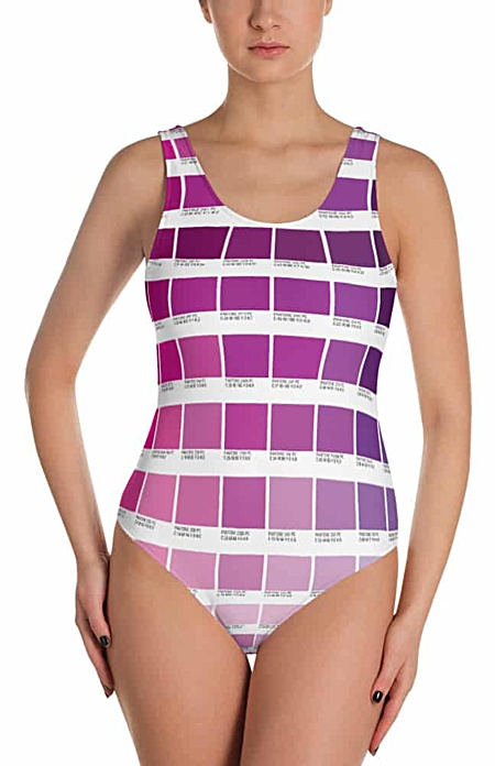 Pantone Color boxes bathing suit one piece