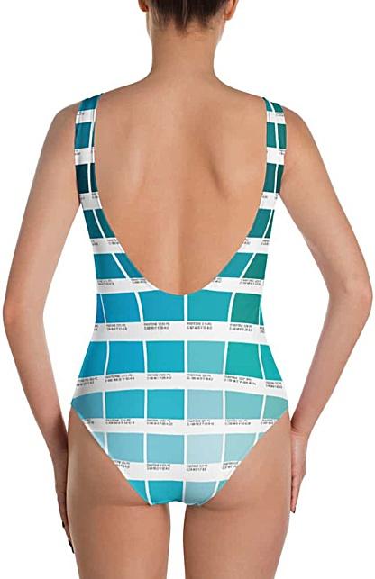 Pantone Color boxes bathing suit one piece