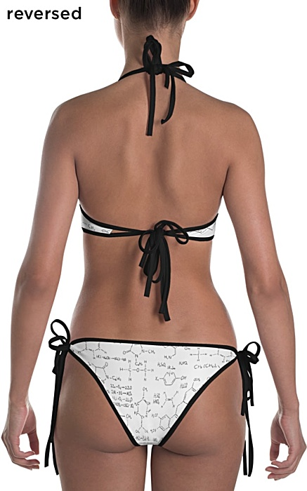 Chemistry Formula & Equations Bikini Two Piece Reversible Bathing Suit
