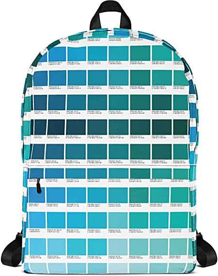 Blue Color Pantone Backpack for Graphic Designers