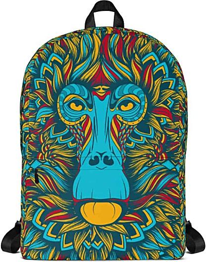 Baboon blue monkey Backpack