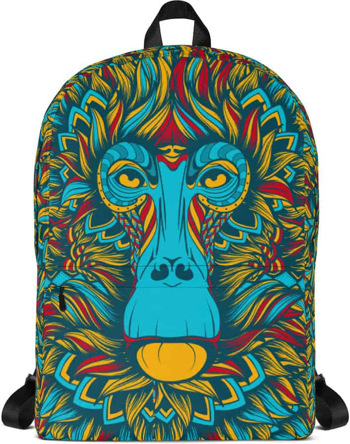 Baboon blue monkey Backpack